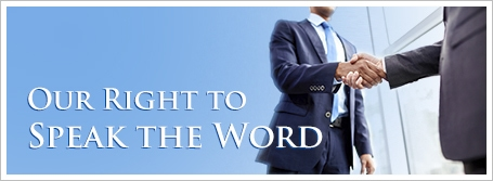 Our Right to Speak the Word